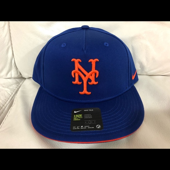 0ce096bb141d1 Nike New York Mets Hat Cap Snapback Adjustable